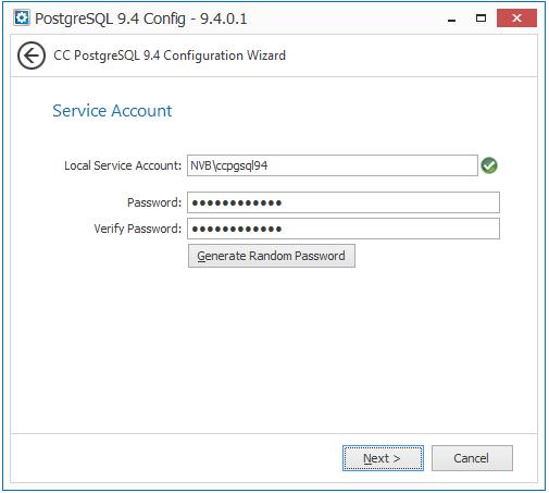 Installing the PostgreSQL Database on a Windows Server