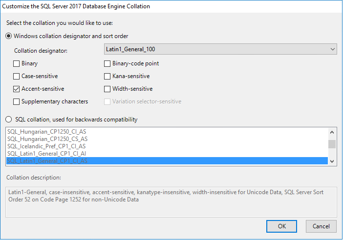 Install a New Instance of SQL Server - Micro Focus File Reporter 3 5