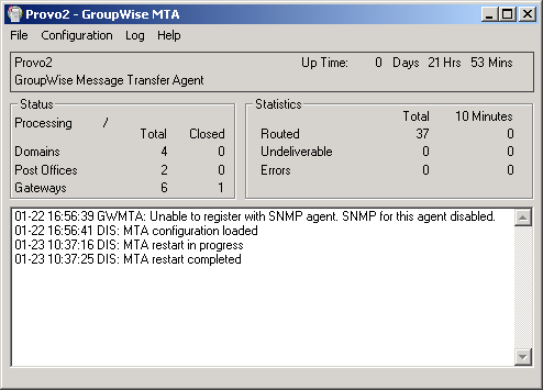 Novell Doc: GroupWise 8 Administration Guide - Using the MTA Server