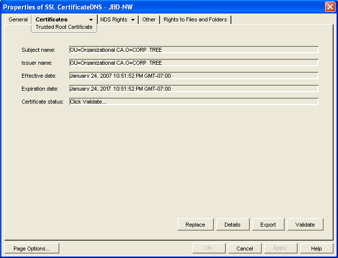 Novell Doc: GroupWise 8 Administration Guide - Trusted Root