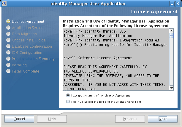 Novell Doc: Identity Manager 3 5 1 Installation Guide - Installing