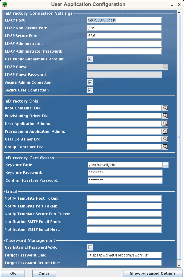 Novell doc identity manager 3 5 1 installation guide for Html table parameters