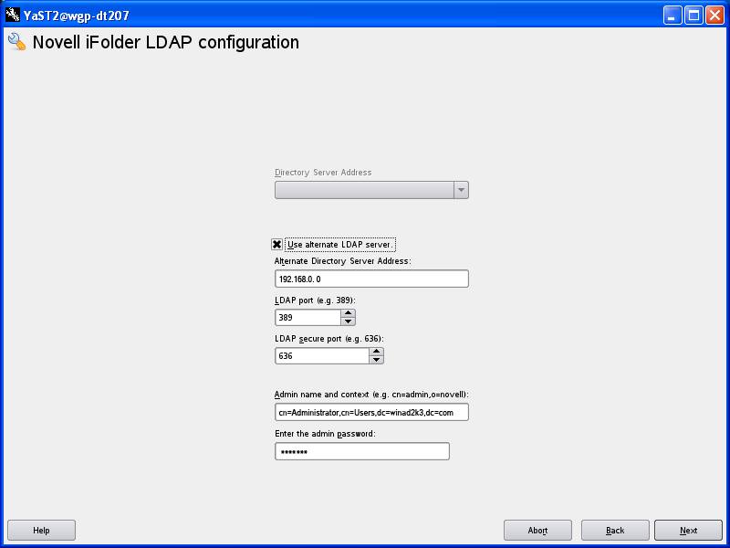 Configuring the iFolder Enterprise Server with Active Directory as
