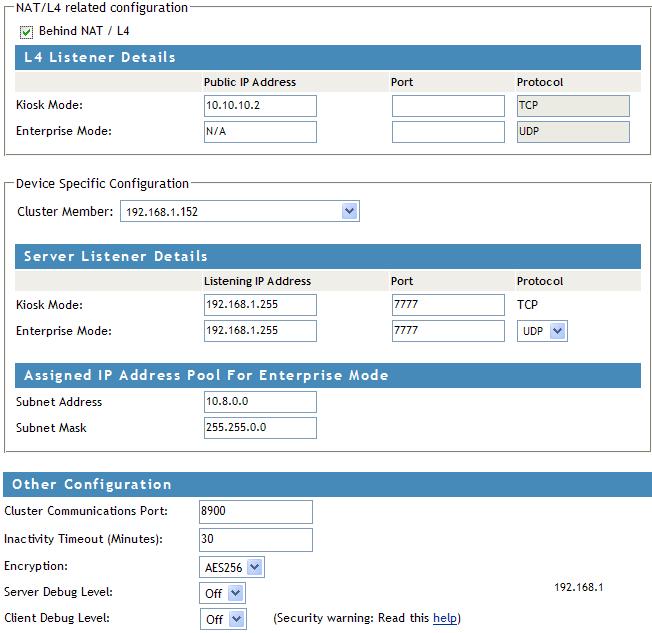 Novell Doc: Novell Access Manager 3 1 SP1 SSL VPN Server