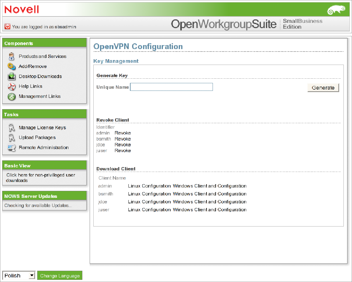 Novell Doc: Novell Open Workgroup Suite Small Business