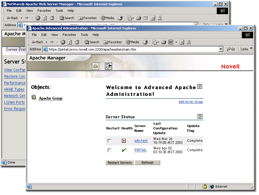 Novell Doc: NW 6 5 SP8: Apache Web Server Administration