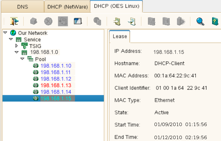 Using the Java Management Console to Manage DHCP (OES Linux