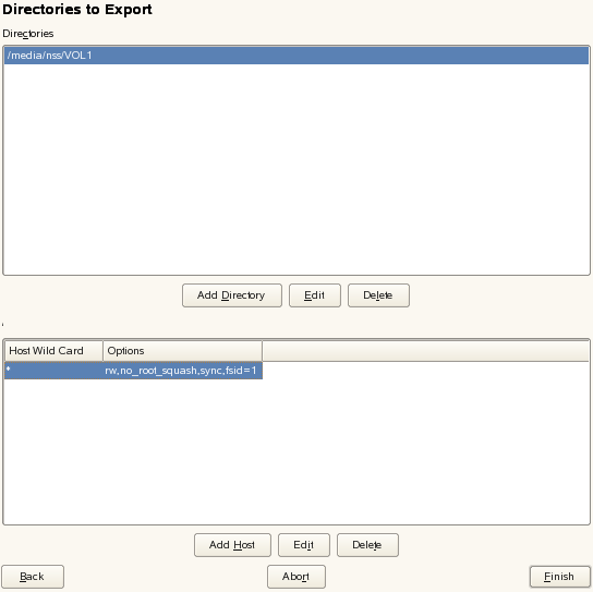 Exporting and Importing NSS Volumes for NFS Access - OES 2018 SP1