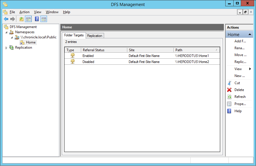 Configuring DFS Folders - Micro Focus Storage Manager 5 2 for Active