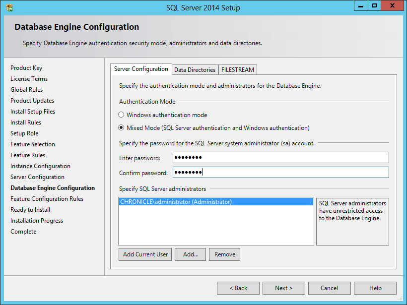Install a New Instance of SQL Server - Micro Focus Storage