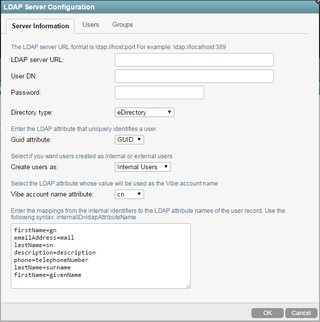 Synchronizing Users and Groups from an LDAP Directory - Micro Focus