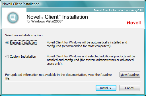 Novell Doc: Novell Client 2 SP1 for Windows Administration