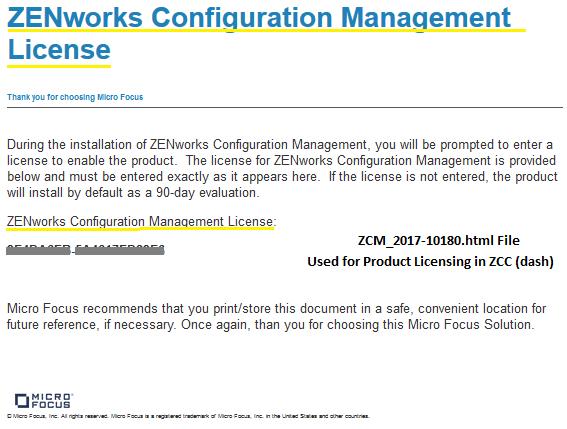 Activating ZENworks Suite or Individual Product License - ZENworks