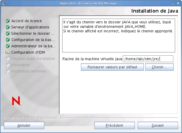 Guide d'installation de Cisco Provisioning Provisioning Provisioning