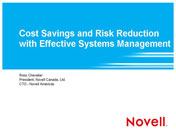 Cost Savings and Risk Reduction with Effective Systems Management