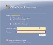 链接凭证:Outlook Web Mail