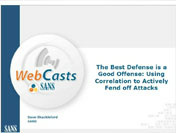 The Best Defense is a Good Offense: Using Correlation to Actively Fend off Attacks