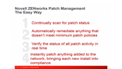 Novell ZENworks TechTalk – Work Smarter not Longer, Part 3: Patching