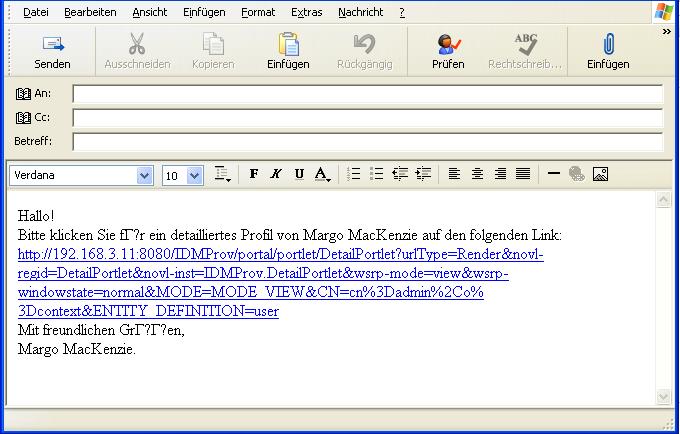 Novell Doc Identity Manager 351 Benutzeranwendung