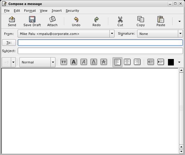 Novell Documentation Evolution 2 4 Composing New E Mail