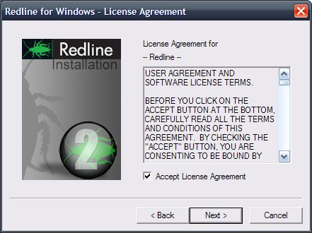 Windows Installation Redline 40