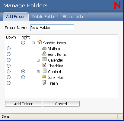 how to add a new name in my folder