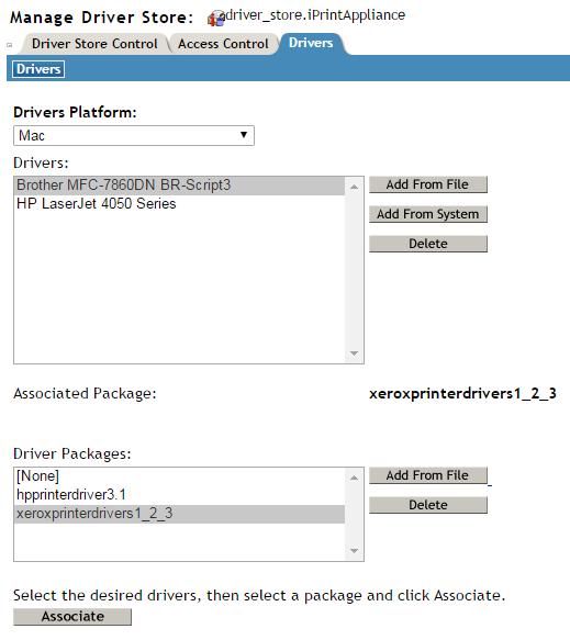 configuring printer drivers micro focus iprint appliance 2 1