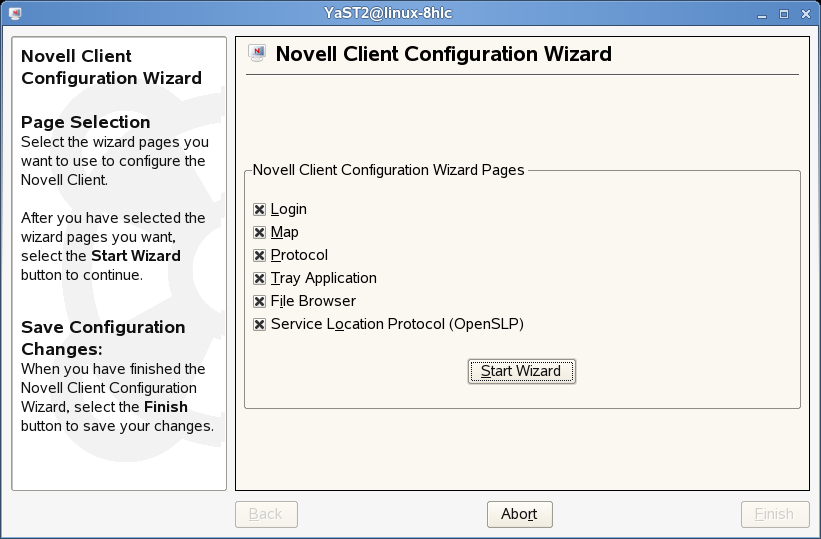 Novell Doc: Novell Client 2 0 SP2 for Linux Administration