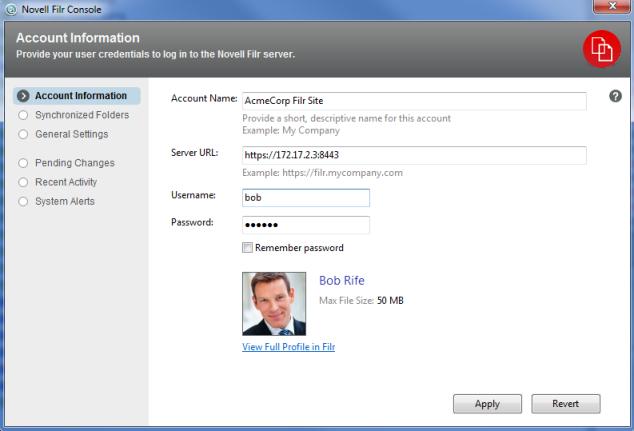 Novell Filr 1 1 Desktop Application for Windows Quick Start