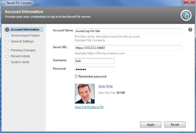 Novell Filr 1 0 2 Desktop Application for Windows Quick Start
