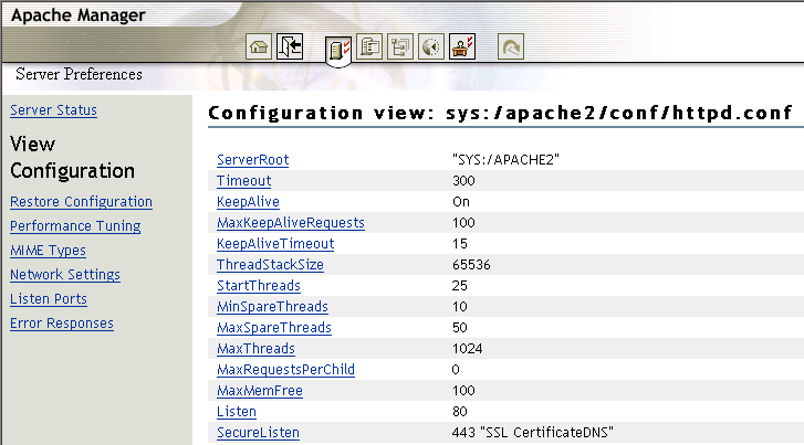 Novell Doc: NW 6 5 SP8: Apache Web Server Administration