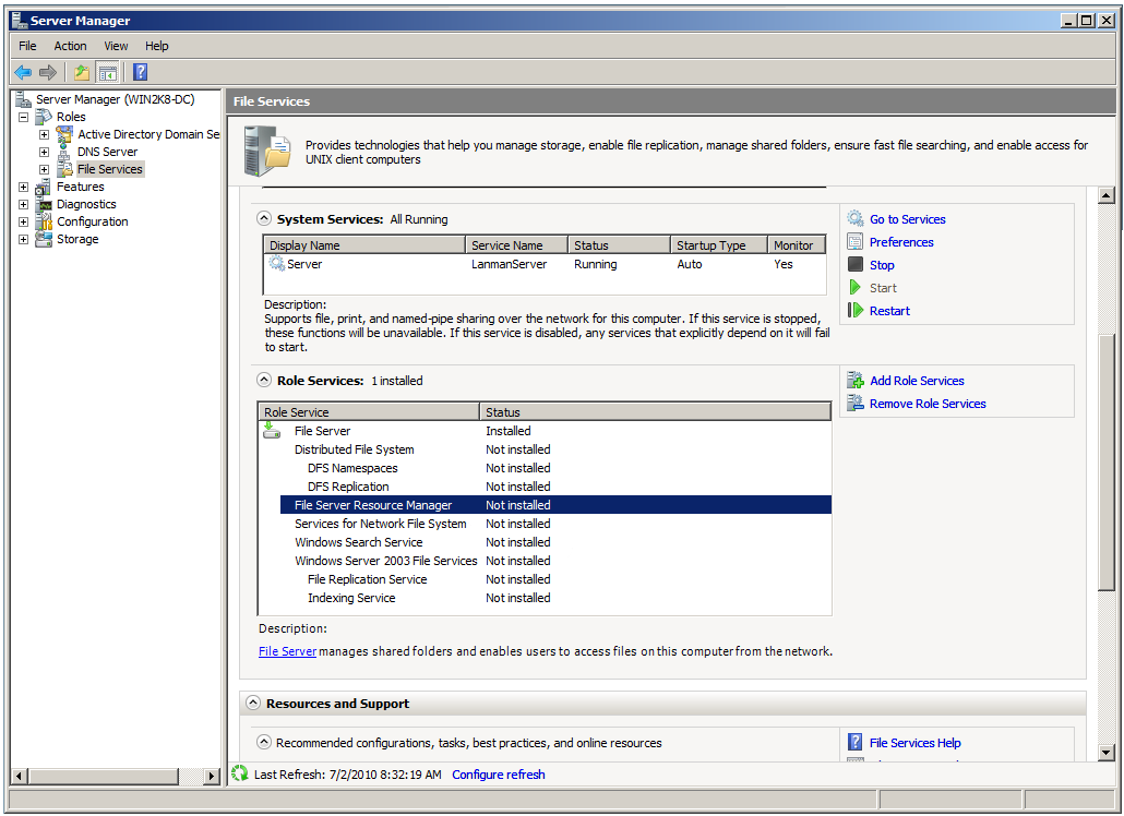 installing server roles with batch file Check this option to install an rscd agent on the target servers  using a role  that has read and execute authorizations on the batch job and  the runonce bat file runs one time when windows starts for the first time after.