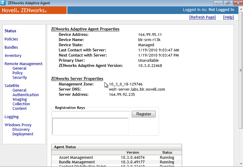 how to find the version of zenworks