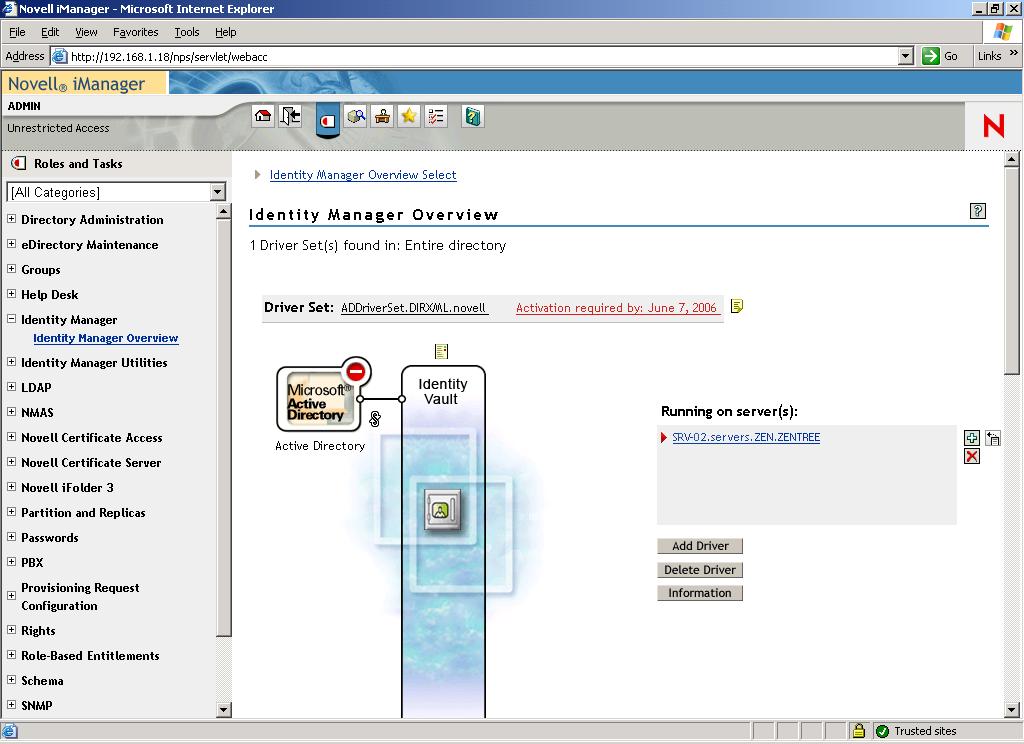 Active Directory - eDirectory integation