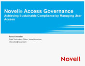 Achieving Sustainable Compliance by Managing User Access with Access Governance