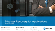 Webinar: Disaster Recovery for Applications